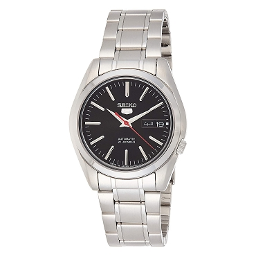 Seiko 5 SNKL45 SNKL45J1 Automatic 21 Jewels Black Dial Stainless Steel Men's Watch - Made In Japan