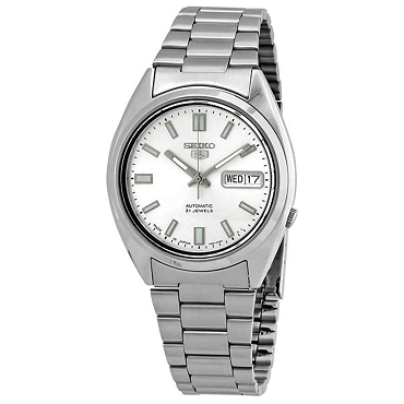 Seiko 5 SNXS73J1 SNXS73 Automatic 21 Jewels Silver Dial Stainless Steel Men's Watch - Made In Japan