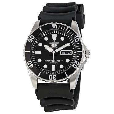 Seiko 5 SNZF17 SNZF17J2 Automatic 23 Jewels Black Dial Stainless Steel Men's Watch