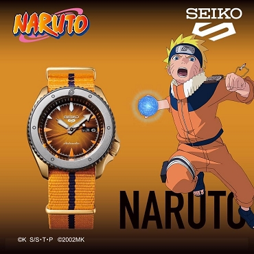 Seiko 5 Sports SRPF70K1 Naruto & Boruto NARUTO UZUMAKI 24 Jewels Automatic Men's Watch - Limited 6500 pcs Worldwide