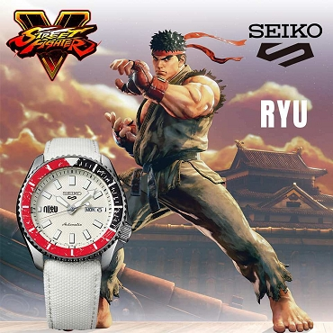 Seiko 5 Sports SRPF19K1 Street Fighter V RYU White Dial Automatic Men's Watch Limited 9999 pcs Worldwide
