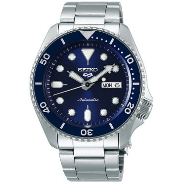 Seiko 5 SRPD51K1 SRPD51K Automatic 24 Jewels Blue Dial Stainless Steel Men's Watch