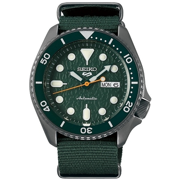 Seiko 5 SRPD77K1 SRPD77K Automatic 24 Jewels Green Dial Stainless Steel Men's Watch