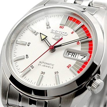 Seiko 5 SNK369 SNK369K1 Automatic 21 Jewels White Dial Stainless Steel Men's Watch