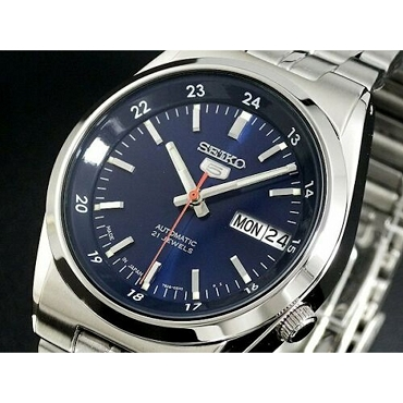 Seiko 5 SNK563J1 SNK563 Automatic 21 Jewels Blue Dial Stainless Steel Men's Watch - Made in Japan
