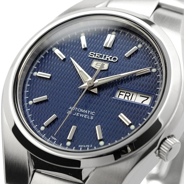 Seiko 5 SNK603K1 SNK603 Automatic 21 Jewels Blue Dial Stainless Steel Men's Watch