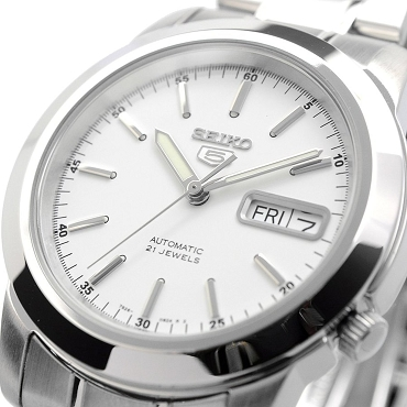 Seiko 5 SNKE49K1 SNKE49 Automatic 21 Jewels White Dial Stainless Steel Men's Watch