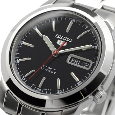 Seiko 5 SNKE53K1 SNKE53 Automatic 21 Jewels Black Dial Stainless Steel Men's Watch