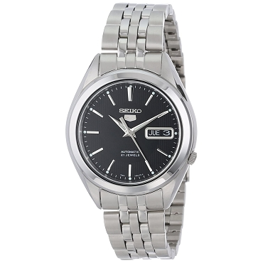 Seiko 5 SNKL23K1 SNKL23 Automatic 21 Jewels Black Dial Stainless Steel Men's Watch