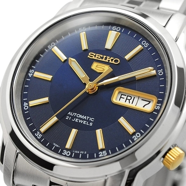 Seiko 5 SNKL79 SNKL79K1 Automatic 21 Jewels Blue Dial Stainless Steel Men's Watch