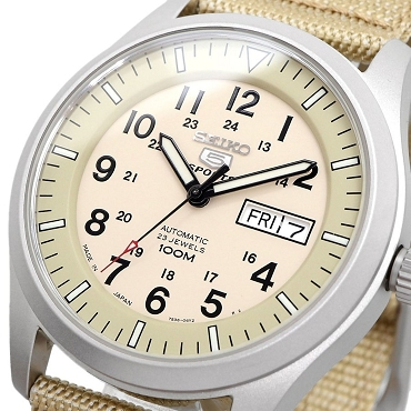 Seiko 5 Sports SNZG07J1 Army Style 23 Jewels Automatic Men's Watch - Made in Japan