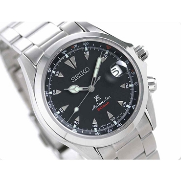 Seiko Prospex SPB117J1 Alpinist 24 Jewels 200M Black Dial Stainless Steel Strap Men's Watch - Made in Japan