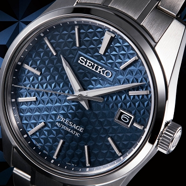 Seiko Presage SPB167J1 Sharp Edged Series 24 Jewels Automatic Blue Dial Stainless Steel Strap Japan Made Men's Watch INT'L WARRANTY