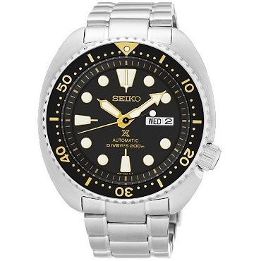 Seiko Prospex SRP775J1 Turtle Classic 24 Jewels Automatic 200M Black Dial Men's Diver Watch - Made in Japan