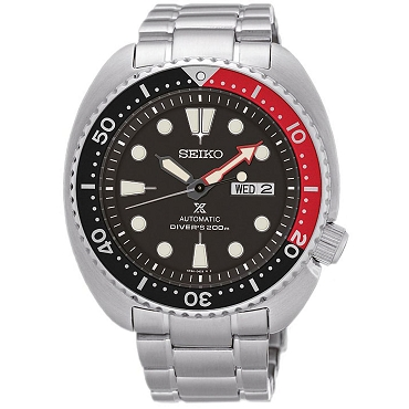 Seiko Prospex Sea Turtle SRP789K1 24 Jewels Automatic Red x Black 200M Men's Diver Watch