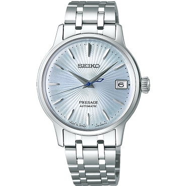 Seiko Presage SRP841J1 Cocktail Time 23 Jewels Automatic Ice Blue Dial Stainless Steel Japan Made Ladies Watch INT'L WARRANTY
