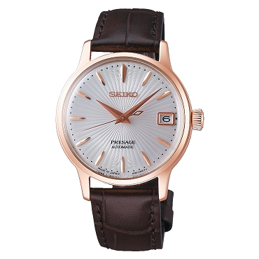 Seiko Presage SRP852J1 Cocktail 'BELLINI' 23 Jewels Automatic Pale Pink Dial Women Watch - Made in Japan