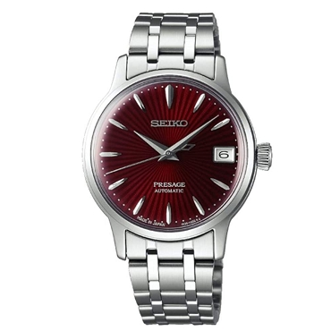 Seiko PRESAGE SRP853J1 Cocktail Time Kir Royal 23 Jewels Automatic Red Dial Stainless Steel JAPAN MADE Ladies Watch INT'L WARRANTY