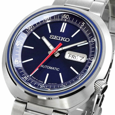 Seiko SRPC09J1 Recraft 24 Jewels Automatic Blue Dial Stainless Steel Men's Watch - Made in Japan