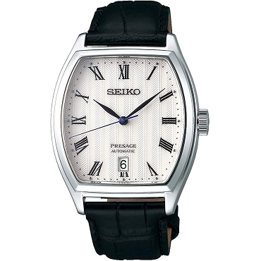 Seiko Presage SRPD05J1 Cocktail 23 Jewels Automatic White Dial Tonneau Men's Watch - Made in Japan