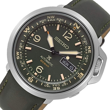 Seiko Prospex SRPD33J1 24 Jewels Automatic Green Dial Dark GreenLeather Strap Men's Watch - Made in Japan