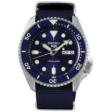 Seiko 5 Sports SRPD51K2 Automatic 4R36 24 Jewels Blue Dial Men's Watch
