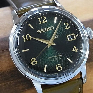Seiko Presage SRPE45J1 Cocktail Mojito 23 Jewels Automatic Japan Made Watch INTERNATIONAL WARRANTY