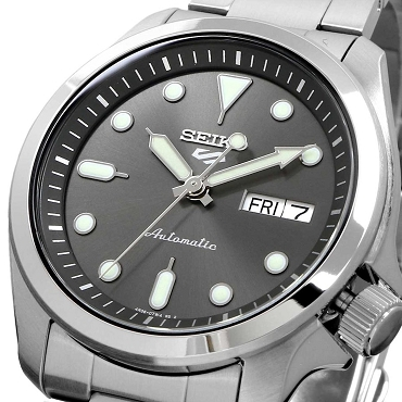 Seiko 5 Sports SRPE51K1 24 Jewels Automatic 40mm Gray Dial Stainless Steel Men's Watch
