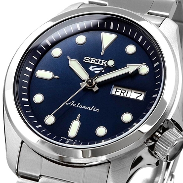 Seiko 5 Sports SRPE53K1 24 Jewels Automatic 40mm Blue Dial Stainless Steel Men's Watch
