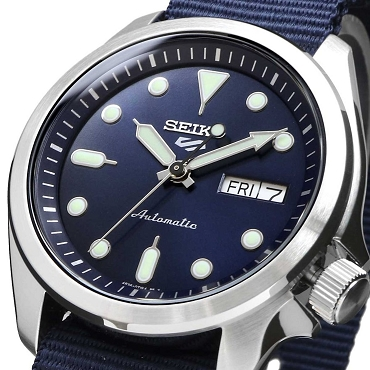 Seiko 5 Sports SRPE63K1 24 Jewels Automatic 40mm Blue Dial Nylon Strap Men's Watch