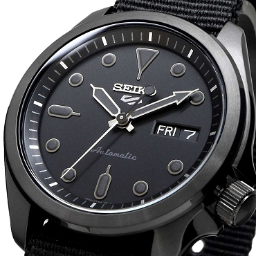 Seiko 5 Sports SRPE69K1 SRPE69 Automatic 24 Jewels Black Dial Nylon Strap Men's Watch