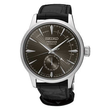 "Seiko Presage SSA345J1 Cocktail Time ""ESPRESSO MARTINI"" 29 Jewels Automatic Grey Dial Men's Watch - Made in Japan"