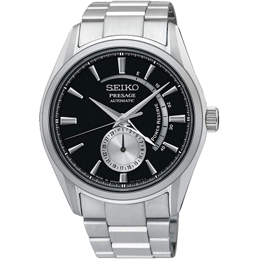 Seiko Presage SSA351J1 Cocktail Time 29 Jewels Automatic Power Reserve Display Men's Watch - Made in Japan