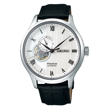 Seiko Presage SSA379J1 Karesansui Zen Garden Series 24 Jewels White Dial Leather Strap JAPAN MADE Men's Watch INT'L WARRANTY