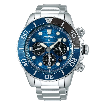 Seiko Prospex SSC741P1 Save The Ocean Great White Shark Solar Chronograph Diver Scuba Special Edition Men's Watch