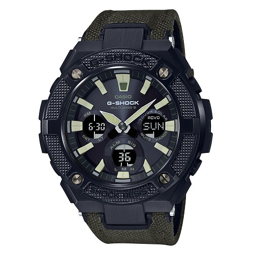 Casio G-Shock G-Steel GST-W130BC-1A3JF Military Taste Series Tough Solar Multiband 6 Men's Watch - JDM (Japanese Domestic Market) Model