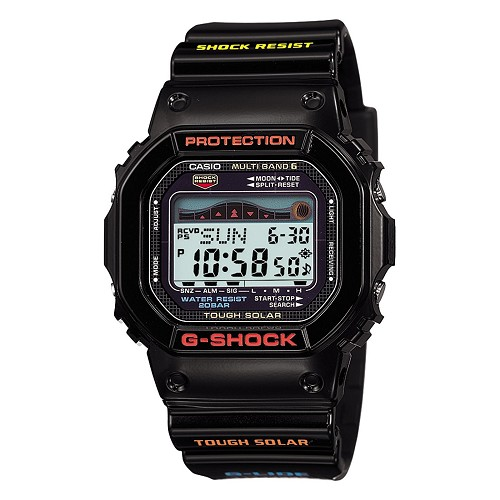 Casio G-Shock GWX-5600-1JF G-LIDE Tough Solar Multiband 6 Tide Graph Men's Watch - JDM (Japanese Domestic Market) Model