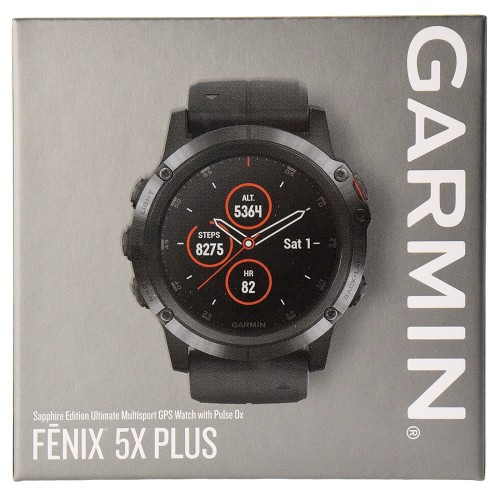 Garmin Fenix 5X Plus Sapphire Edition Multisport GPS Watch Full-color Map Guidance Black with Black Band
