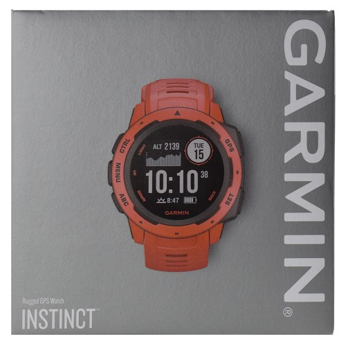 Garmin Instinct Outdoor Rugged GPS Multisport Watch with Wrist-based HRM - Flame Red