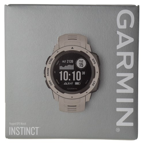Garmin Instinct Outdoor Rugged GPS Multisport Watch with Wrist-based HRM - Tundra