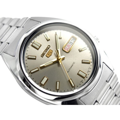 Seiko 5 SNXS75K1 SNXS75 Automatic 21 Jewel Silver Dial Stainless Steel Men's Watch