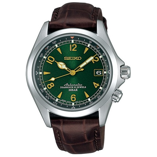 Seiko SARB017 Alpinist Mechanical Automatic Green Dial Leather Band Men's Watch - JDM (Japanese Domestic Market) Model