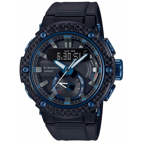 Casio G-Shock G-Steel GST-B200X-1A2JF Carbon Core Guard Mobile Link Bluetooth Tough Solar Men's Watch - JDM Product (Japanese Domestic Market) Model