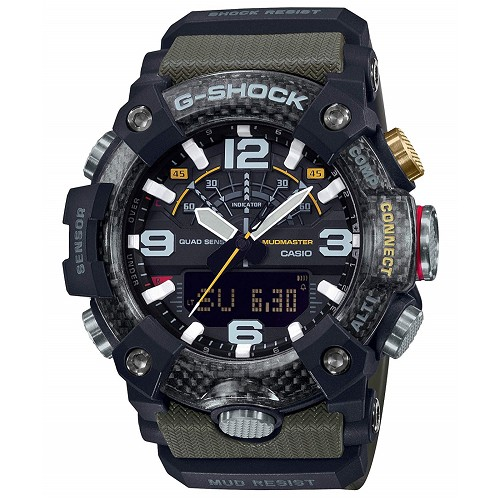 Casio G-Shock GG-B100-1A3JF Mudmaster Carbon Core Bluetooth Mobile Link Men's Watch - JDM Product (Japanese Domestic Market)
