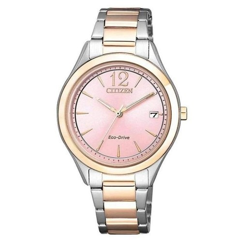 Citizen FE6126-80X Eco-Drive Stainless Steel Two Tone Pink Dial Women's Watch