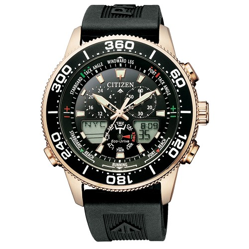 Citizen Promaster Marine JR4063-12E Eco-Drive World Time Chronograph 200M Men's Watch