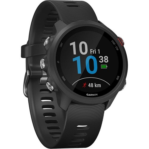 Garmin Forerunner 245 Music GPS Running Smartwatch w/ Wrist-based HRM Monitor - Black