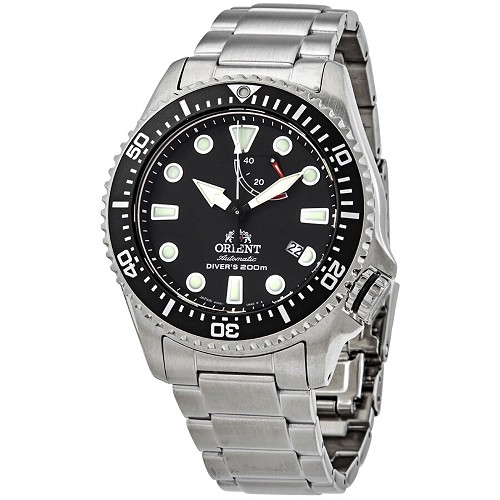 Orient Sports RA-EL0001B00B Automatic Black Dial Stainless Steel Men's Diver Watch