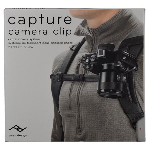 Peak Design Capture V3 Camera Clip with Standard Plate CP-BK-3 - Black