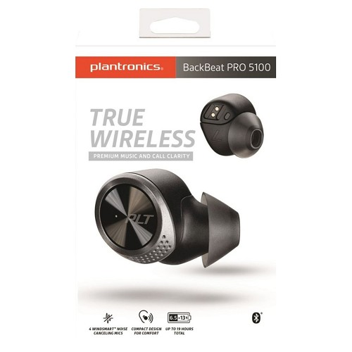 Plantronics BackBeat PRO 5100 True Wireless Bluetooth 5.0 In-Ear Earbuds - Black